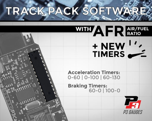 "P3 Gauge Upgrade Chip - ""TRACK PACK"" Software"