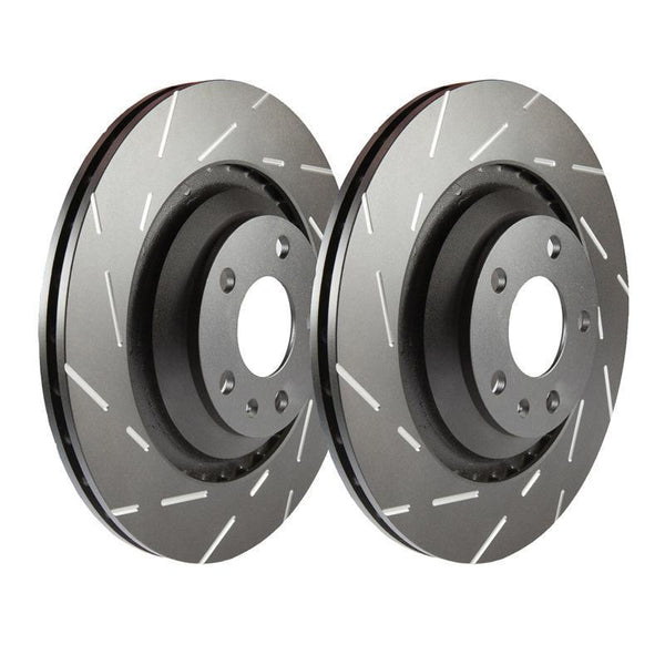 Ebc Ultimax Grooved Front Brake Discs For Ford Fiesta St Mk7