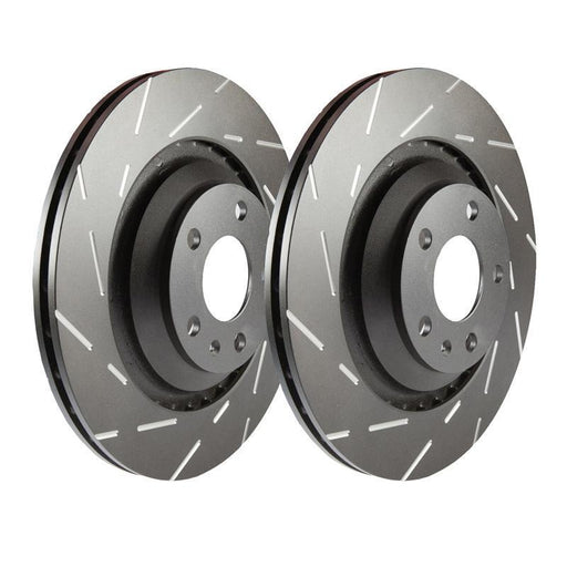 EBC Ultimax Grooved Front Brake Discs for Ford Fiesta (MK7)