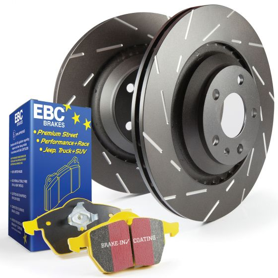 EBC Front Ultimax Brake Discs With Yellowstuff Pads For Mitsubishi Lancer Evo 2