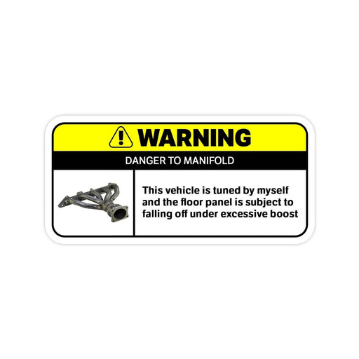 Fast And Furious Warning Sticker