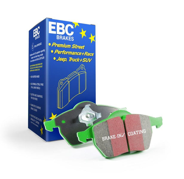 EBC Greenstuff Front Brake Pads for Peugeot 107