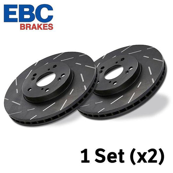 EBC Ultimax Grooved Rear Brake Discs For Seat Ibiza (6L)