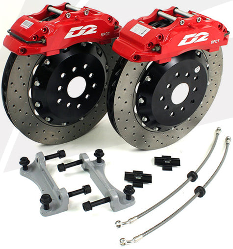 D2 Front Big Brake Kit for Audi A4 (B7)
