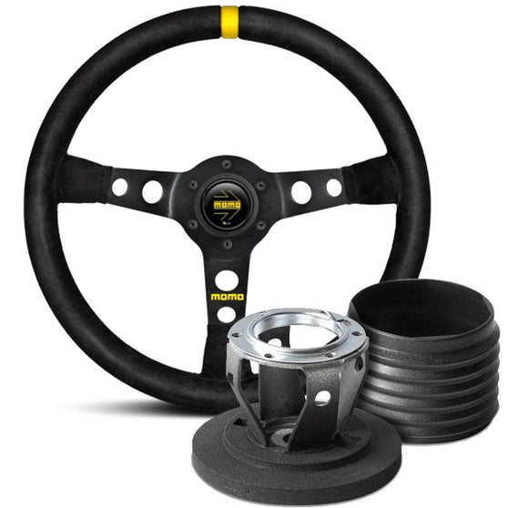 MOMO Model 07 Steering Wheel and Hub Kit for Mitsubishi Lancer Evo 10