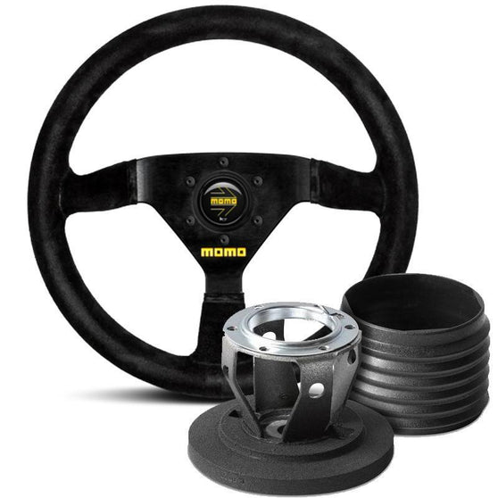 MOMO Model 69 Steering Wheel and Hub Kit for Fiat 500