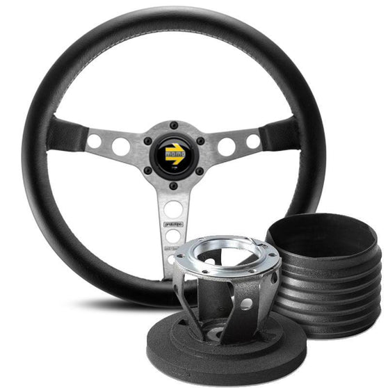 MOMO Prototipo Steering Wheel and Hub Kit for Mitsubishi Lancer Evo 9