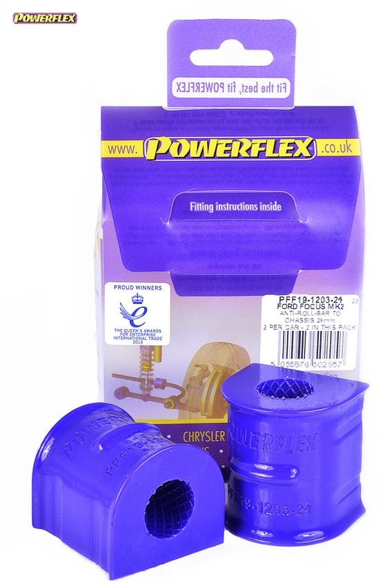 Powerflex Front Anti Roll Bar To Chassis Bush 24mm Kit for Ford Focus RS (MK2)