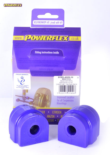 Powerflex Rear Anti Roll Bar Mounting Bush 14mm Kit for BMW 1-Series (E87)
