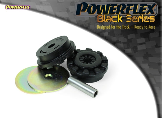 Powerflex Black Series Lower Engine Mount Large Bush 30mm Oval Bracket Kit for Ford Fiesta (MK7)