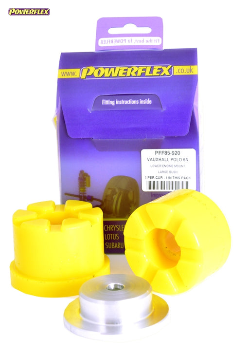 Powerflex Lower Engine Mount Large Bush Kit for Volkswagen Polo (6N2)