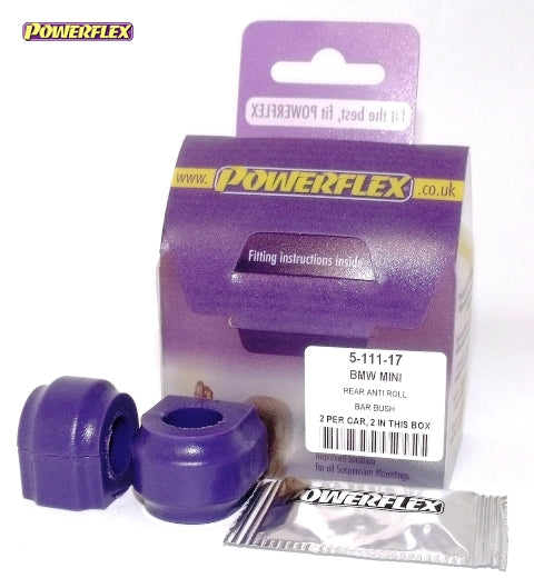 Powerflex Rear Anti Roll Bar Bush 17mm Kit for Mini Hatch (R53)