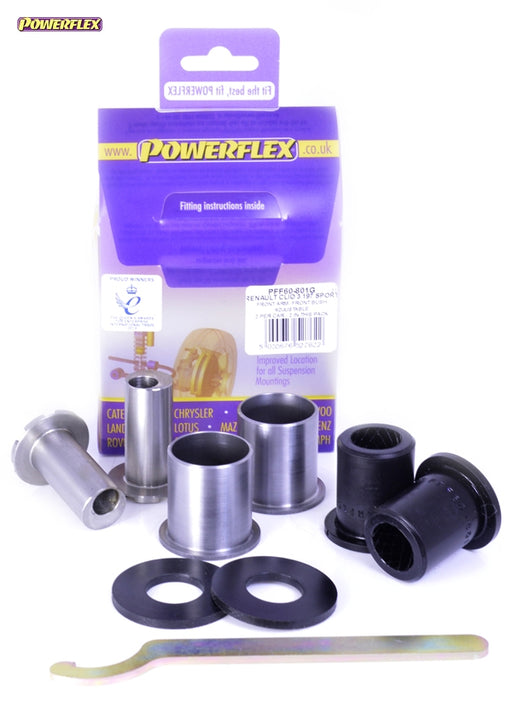 Powerflex Front Arm Front Bush Camber Adjustable Kit for Renault Clio (MK3)