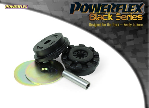 Powerflex Black Series Lower Engine Mount Large Bush 30mm Oval Bracket Kit for Ford Fiesta ST (MK7)