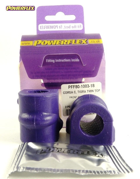 Powerflex Front Anti Roll Bar Bush 18mm Kit for Vauxhall Corsa (C)