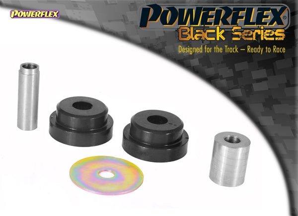 Powerflex Black Series Lower Engine Mount Small Bush 25mm Oval Bracket Kit for Ford Fiesta ST (MK6)