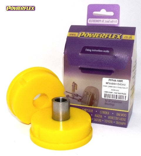 Powerflex Front Lower Front Engine Mount (Road Use) Kit for Mitsubishi Lancer Evo 5