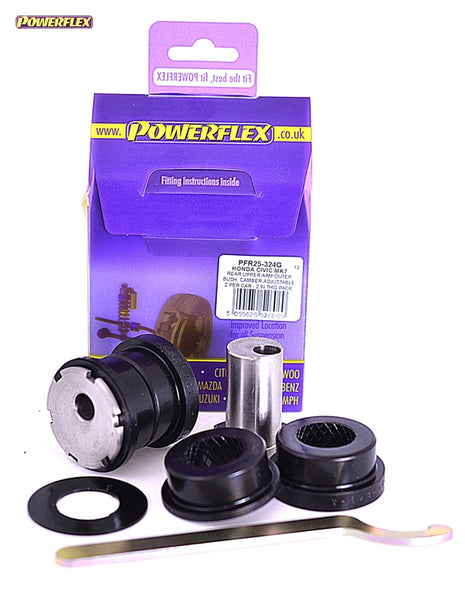 Powerflex Rear Upper Arm Outer Bush, Camber Adjustable Kit for Honda Civic Type R (EP3)
