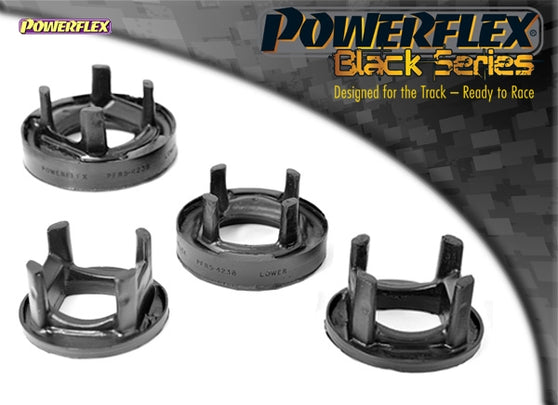 Powerflex Black Series Rear Subframe Rear Mounting Insert Kit for BMW 1-Series (E81)