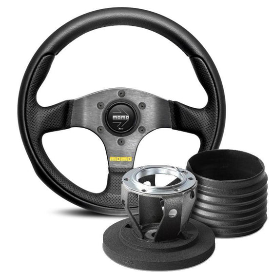 MOMO Team Steering Wheel and Hub Kit for Fiat 500