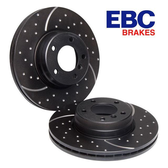 EBC Ultimax Grooved Turbo Rear Discs For Audi A3 (8P)