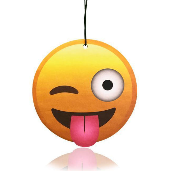 Winking Face With Tongue Emoji Air Freshener