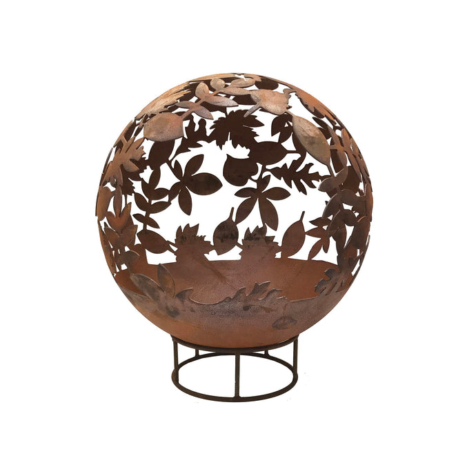 Leaf Design 70cm Garden Fire Ball