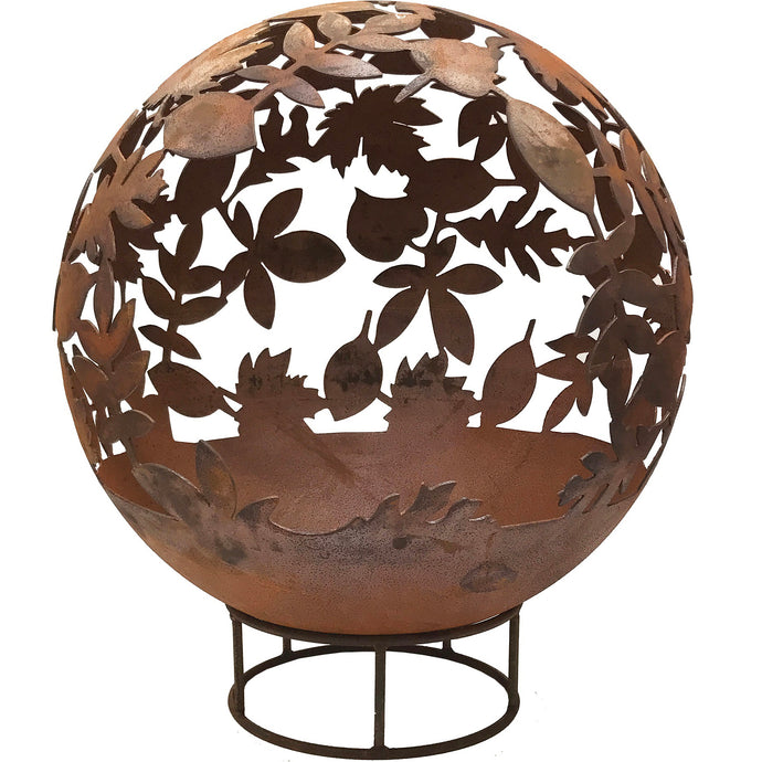 Leaf Design 90cm Garden Fire Ball