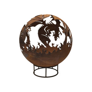 Dragon Design 70cm Garden Fire Ball