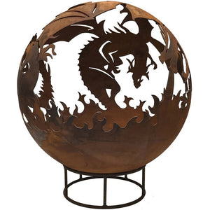 Dragon Design 90cm Garden Fire Ball