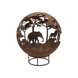 Safari Design 70cm Garden Fire Ball