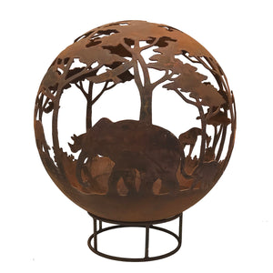 Safari Design 90cm Garden Fire Ball