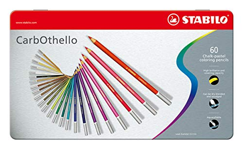 Stabilo Carbothello Pastel Pencil, 60-Color Set, - Nouveau Artiste