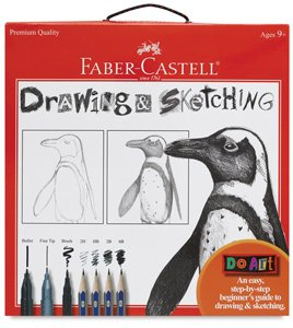 Faber-Castell - Do Art Drawing and Sketching Art Kit - Premium Kids Crafts, - Nouveau Artiste