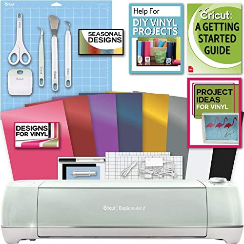 Cricut Explore Air 2 Machine Bundle Beginner Guide, Tool Kit, Vinyl Pack, Designs and Project Inspiration, - Nouveau Artiste