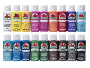 Apple Barrel Acrylic Paint Set, 18 Piece (2-Ounce), PROMOABI Assorted Colors, - Nouveau Artiste