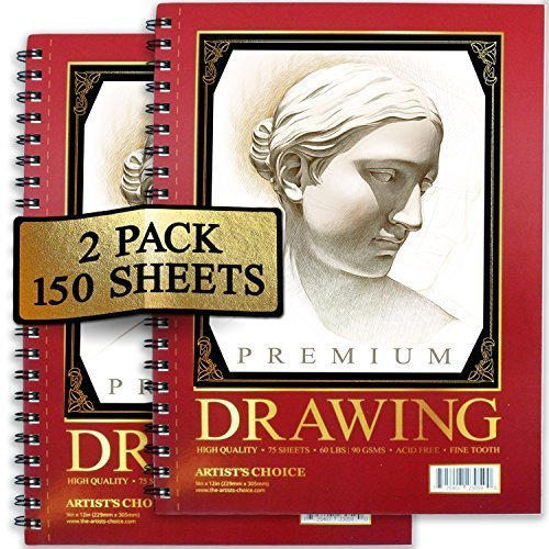 Artist's Choice Sketch Pad,75 Sheets, Pack of 2, - Nouveau Artiste