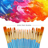 BOSOBO Paint Brushes Set, 2 Pack 20 Pcs Round Pointed Tip Paintbrushes, - Nouveau Artiste