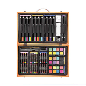 Darice 80-Piece Deluxe Art Set - Art Supplies for Drawing, Painting and More, - Nouveau Artiste
