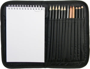 Compact and Portable Sketch Folio 1 Drawing Kit with Art Supplies, - Nouveau Artiste