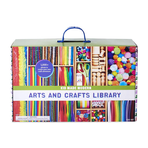 Kid Made Modern New Arts and Crafts Library Set - Kid Crafting Supplies, Art Projects in a Box, - Nouveau Artiste