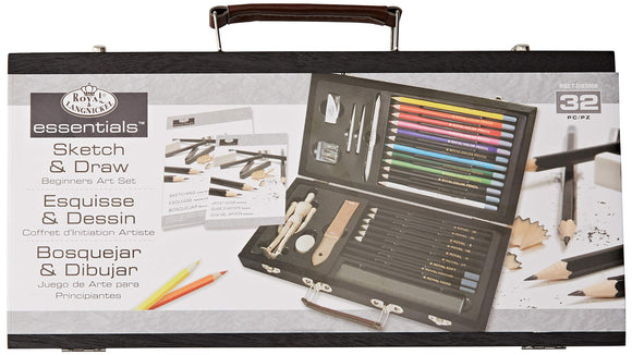ROYAL BRUSH Essentials Art Sketching and Drawing Artist Set for Beginners, Multicolor, - Nouveau Artiste
