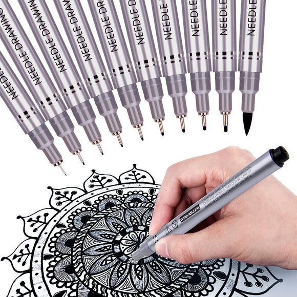 Precision Micro-Line Pens, Fineliner, Multiliner, Waterproof Archival ink, Artist Illustration, - Nouveau Artiste