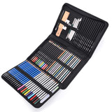 Mxculior 71-Piece Art Supplies -Sketch Set,Painting,Coloring and Drawing Pencils Set with Extra Art Kits for Children, Adults and Artists, - Nouveau Artiste