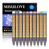 Metallic Marker Pens, MISULOVE Paint Markers, Permanent Glitter, for Rock Painting, - Nouveau Artiste