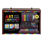 Art 101 142-Piece Wood Art Set, - Nouveau Artiste