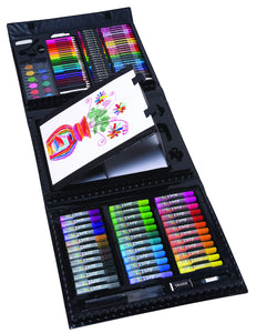 Art 101 Kids 154-Piece Trifold Easel Art Set, - Nouveau Artiste