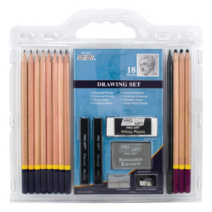 PRO ART 3078 18-Piece Sketch/Draw Pencil Set, - Nouveau Artiste