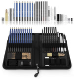 Castle Art Supplies Graphite Drawing Pencils and Sketch Set (40-Piece Kit), - Nouveau Artiste