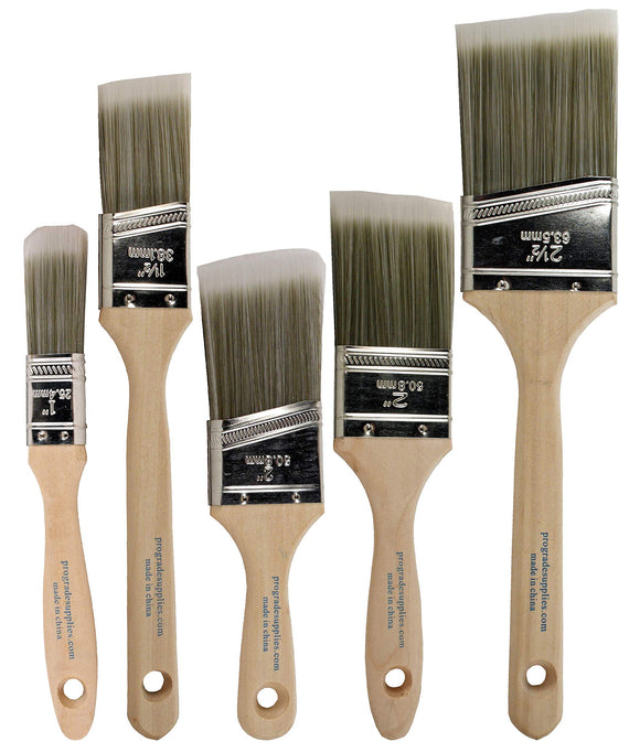 Pro Grade - Paint Brushes - 5 Ea - Paint Brush Set, - Nouveau Artiste